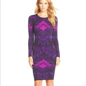 ❤️FELICITY & COCO❤️Jacquard Body-con Sweater dress